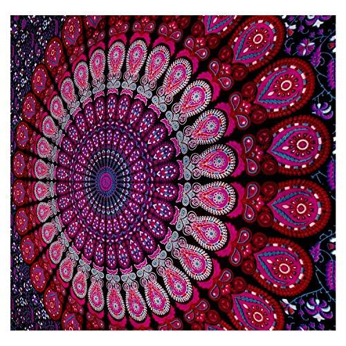 Mandala Tapestry Bohemian Wall Hanging, Psychedelic Wall Art, Dorm Décor Beach Throw, Indian Wall Tapestries Art