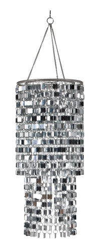 Image of Wall Pops WPC96860 Ready-to-Hang Bling Chandelier, Icicles, 8.5 x 20
