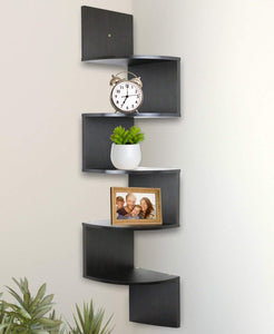 Greenco 5 Tier Wall Mount Corner Shelves