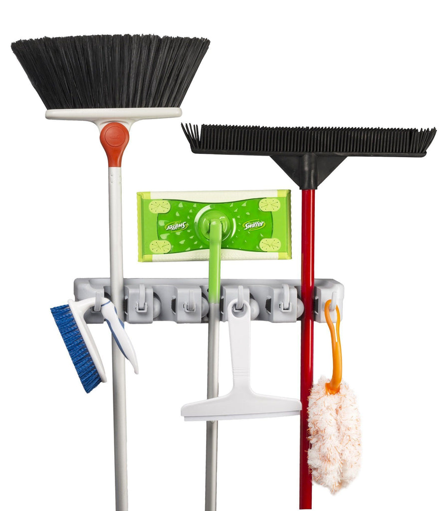 Spoga Wall Mounted Mop, Broom, and Sports Equipment Storage Organiser