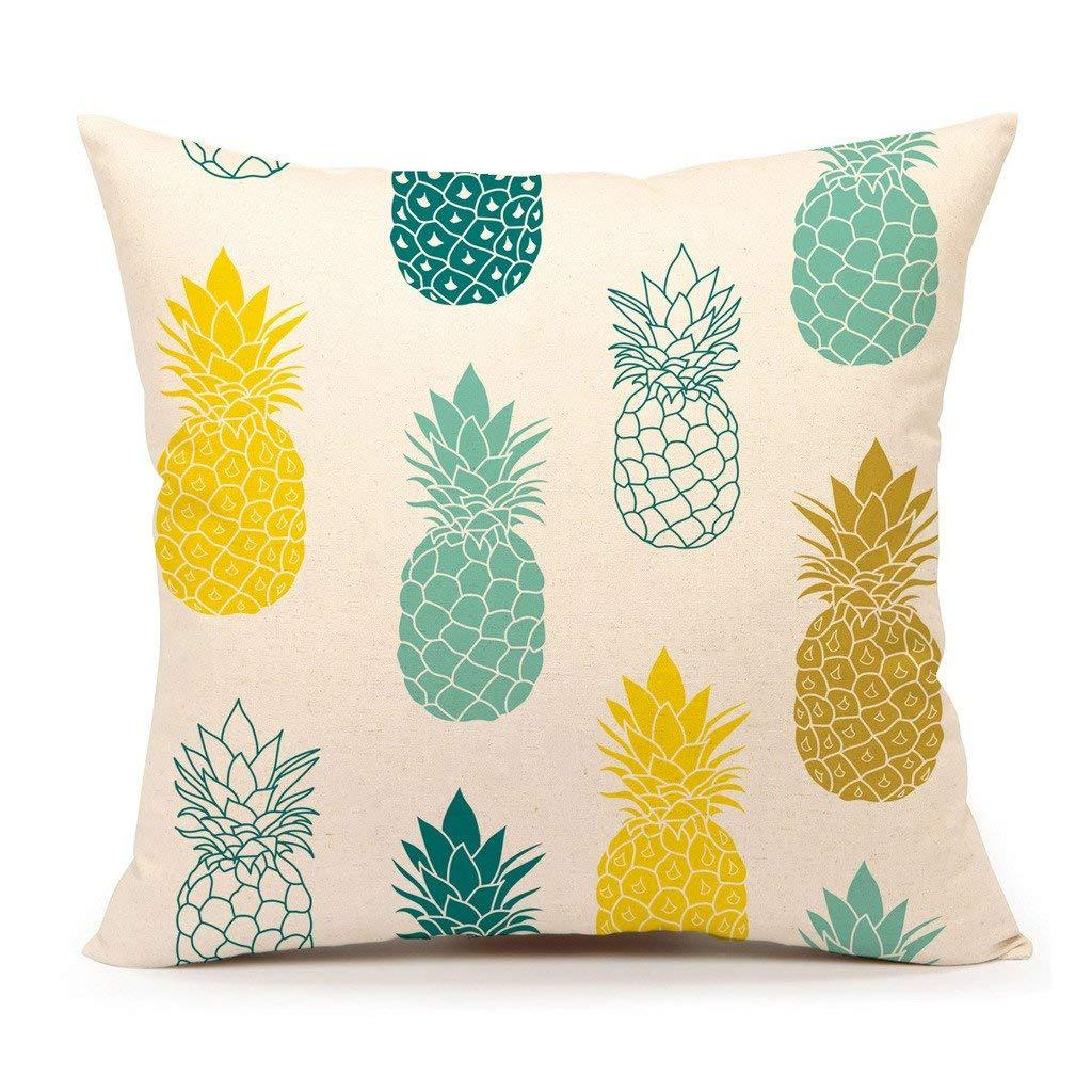 Pineapples Throw Pillow Cover Summer Beach Decor Cushion Case Decorative for Sofa Couch 18