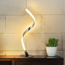 Load image into Gallery viewer, Albrillo Spiral Design LED Table Lamp - Touch Sensor Dimmable Desk Lamp, Warm White 3000K Bedside Lamps of Stainless Steel, 1.5m Cable, 5W 450LM Nightstand Lamps, for Bedroom, Office, Living Room