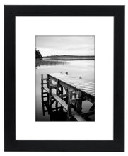Load image into Gallery viewer, 8x10 Black Picture Frame - Made to Display Pictures 5x7 with Mat or 8x10 Without Mat - zingydecor