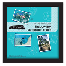 Load image into Gallery viewer, MCS Scrapbook Shadowbox Frame , 8 by 8-Inch, Black (40393) - zingydecor