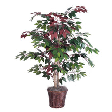Vickerman 4-Feet Artificial Capensia Bush in Decorative Rattan Basket - zingydecor