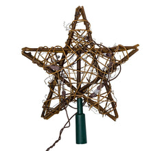 Load image into Gallery viewer, Kurt Adler 10 Light Indoor Rattan Natural Star Treetop