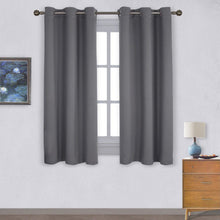 Load image into Gallery viewer, Nicetown Thermal Insulated Grommet Blackout Curtains for Bedroom (2 Panels, W42 x L63 -Inch) - zingydecor