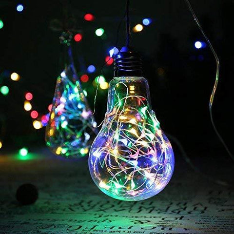 [6-PACK] 7Feet Starry String Lights,Fairy String Lights 20 Micro Starry Leds On Silvery Copper Wire. 2pcs CR2032 Batteries Included, Works for Wedding Centerpiece,Party,Table Decorations(Warm White)