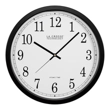 Load image into Gallery viewer, La Crosse Technology WT-3143A-INT 14-Inch Atomic Wall Clock, Black