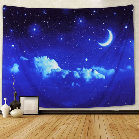 Forest Starry Tapestry Wall Hanging 3D Printing Forest Tapestry Galaxy Tapestry Forest Milky Way Tapestry Tree Tapestry Night Sky Tapestry Wall Tapestry for Dorm Living Room Bedroom (M, 4#forest star)