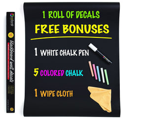 Colore Xtra Large Ultra-Durable Moveable Blackboard Chalkboard Contact Paper Wall Decals - 1 Roll - zingydecor