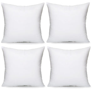 "Acanva Hypoallergenic Pillow Insert Form Cushion, Square, 18"" L x 18"" W, Pack of 4 - zingydecor"