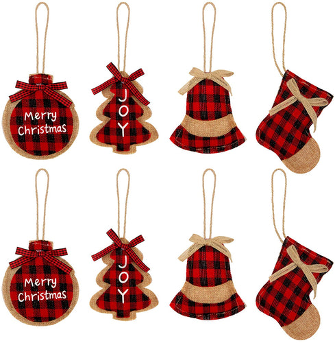 Christmas Tree Ornaments Set of 8