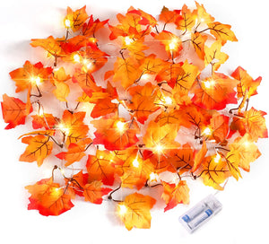 Waterproof Maple Leaf String Lights