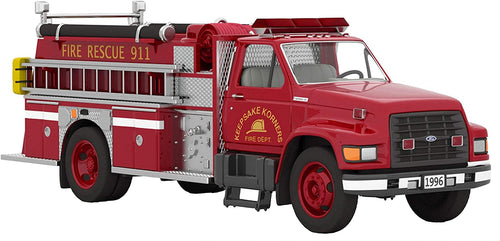 Fire Brigade 1996 Ford F-800 Fire Engine, Light-Up Christmas Ornament