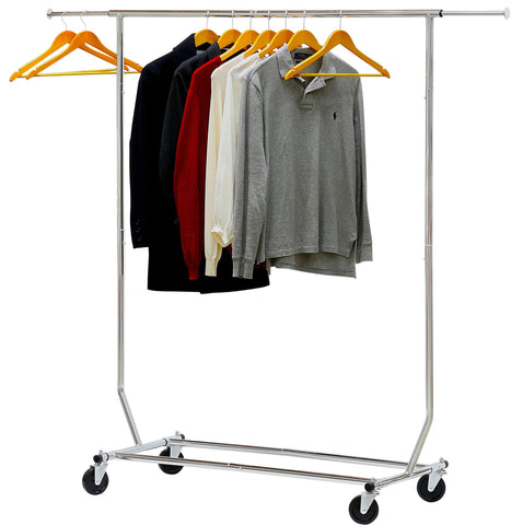 Image of Simple Houseware Commercial Grade Clothing Garment Rack - Chrome