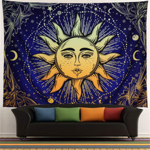 Racunbula Sun and Moon Tapestry Wall Hanging Psychedelic Wall Tapestry Black & White Celestial Tapestry Indian Hippy Bohemian Mandala Tapestry for Bedroom Living Room Dorm - zingydecor