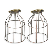 Load image into Gallery viewer, Rustic State Industrial Vintage Style Curved Top Light Cage for Pendant Light Lamps (Oil Robbed) - zingydecor