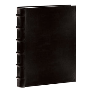 "Pioneer Sewn Bonded Leather BookBound Bi-Directional Photo Album, Holds 300 4x6"" Photos, 3 Per Page, Black. - zingydecor"