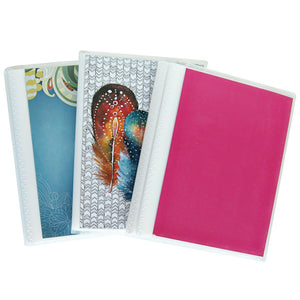 4 x 6 Photo Albums Pack of 3, Each Mini Photo Album Holds Up to 48 4x6 Photos. Flexible, removable covers come in random, assorted patterns and colors. - zingydecor