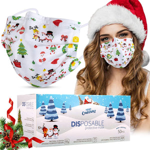Disposable Christmas Face Masks