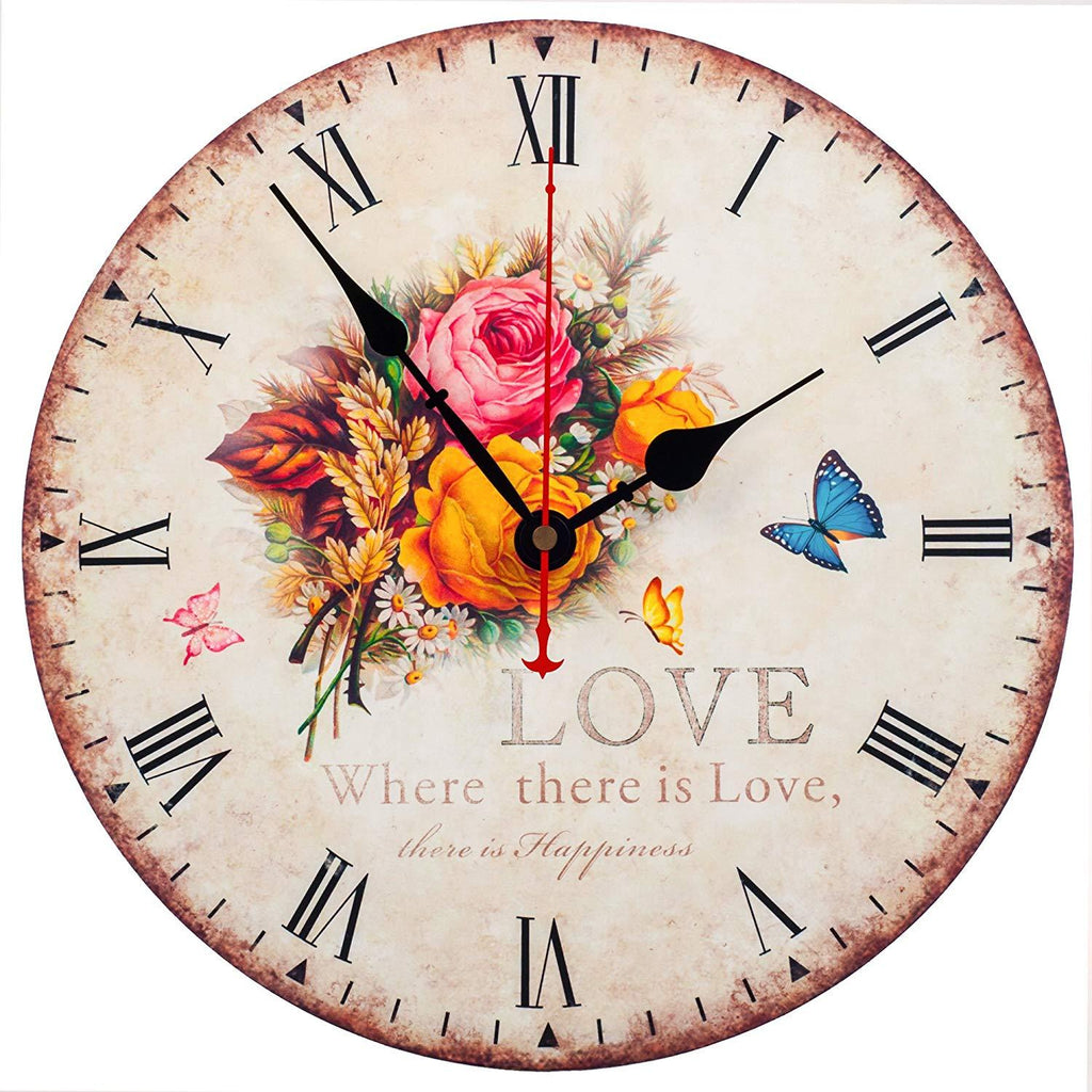Wall Clock Decorative Silent Wall Clock Non Ticking Ocean Theme White Wall Clocks 12-Inch for Bedroom Living Room Bathroom Decorations (Lighthouse)
