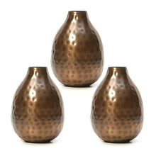 Hosley Set of 3 Metal Bud Vases - Your Choice of Colors. 4.5 Inch High. Ideal Accent Piece for Coffee and Side Tables as Well as Dried Floral Arrangements