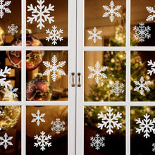 Load image into Gallery viewer, Kesoto Christmas Decoration Snowflake Window Clings Glueless PVC Wall Stickers for Windows Glasses, Pack of 96