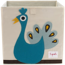 Load image into Gallery viewer, 3 Sprouts Storage Box, Peacock - zingydecor