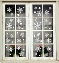 Load image into Gallery viewer, Moon Boat 272PCS Christmas Snowflakes Window Clings Decals Winter Wonderland Decorations Ornaments Party Supplies (7 Sheets) - zingydecor