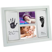 "Gimars Large 3.3x5"" Reusable Safety Ink Pad & Glass 4x6"" Babyprints Handprint Footprint Newborn Baby..."
