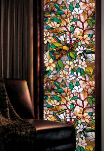 "Artscape 01-0113 Magnolia Window Film 24"" x 36"" - zingydecor"