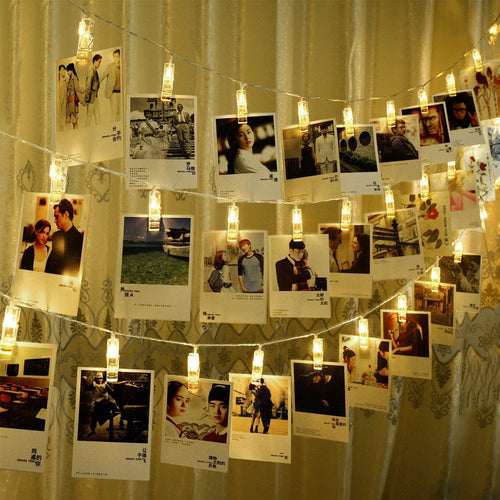 CtopoGo Photo Clips String Lights, USB Powered 40 LED Starry Light Wall Decoration Light for Wedding Party Home Decor Lights 6 M/19.6 ft,Warm White - zingydecor