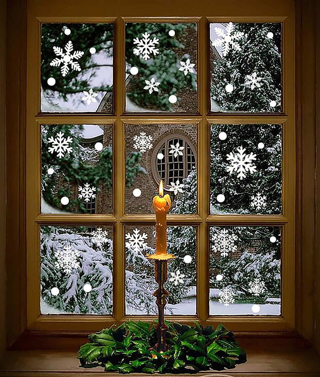 Moon Boat 272PCS Christmas Snowflakes Window Clings Decals Winter Wonderland Decorations Ornaments Party Supplies (7 Sheets) - zingydecor