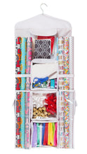 Double Sided Hanging Gift Wrap & Bag Organizer Storage - zingydecor