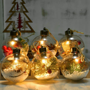 Christmas Ball Ornaments with LED Light
