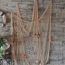 Load image into Gallery viewer, KINGSO Mediterranean Style Decorative Fish Net With Anchor and Shells Beige