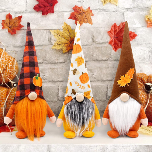 Fall Gnome Cone Hat, Set of 3