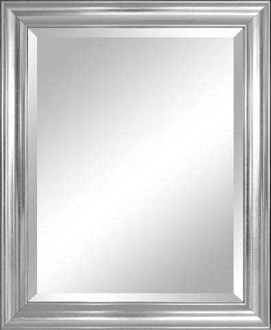 Image of Alpine Mirror & Art Beveled Mirror, Crackled Silver