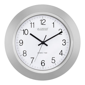 La Crosse Technology WT-3144S 14 Inch Atomic Analog clock - Silver