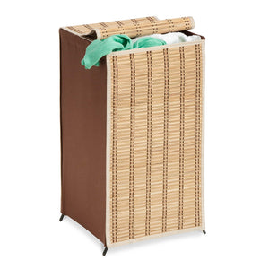 Honey-Can-Do HMP-01619 Tall Wicker Weave Hamper, Bamboo Laundry Organizer - zingydecor