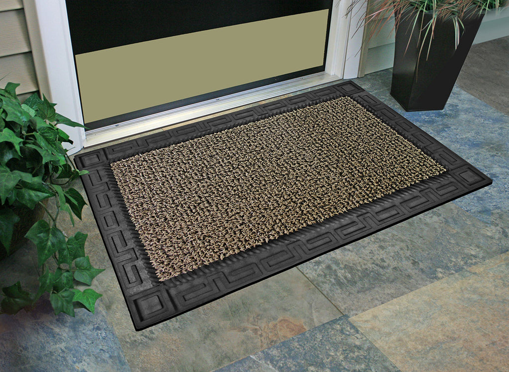 "GrassWorx Omega Doormat, 24"" by 36"", Earth Taupe"