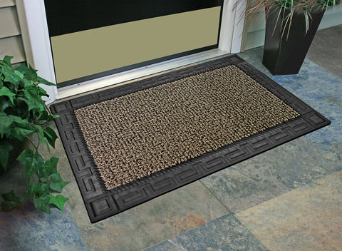 "Image of GrassWorx Omega Doormat, 24"" by 36"", Earth Taupe"