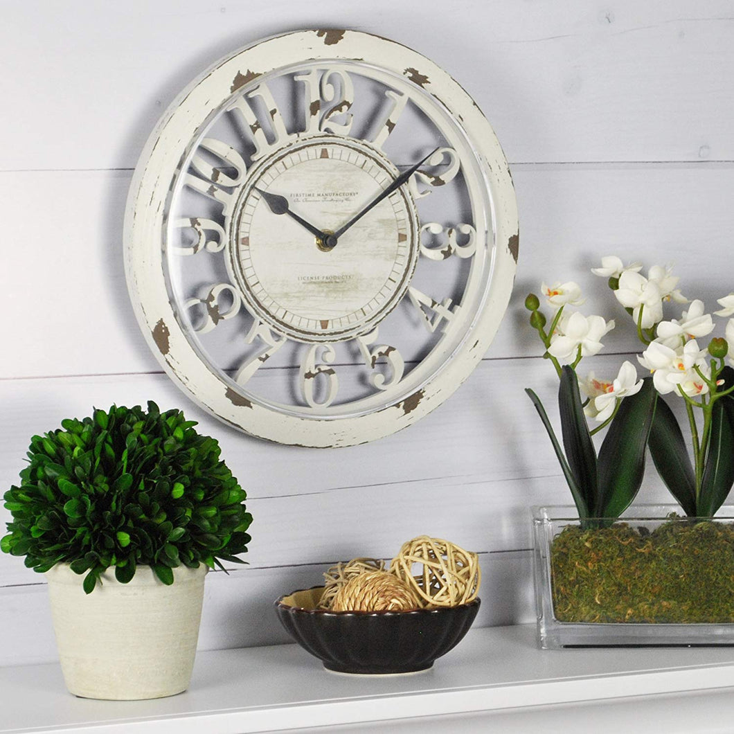 FirsTime & Co. Antique Contour Wall Clock, 10