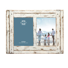 "Prinz 2 Opening Homestead Antique Wood Collage Frame, 5 x 7"", White - zingydecor"