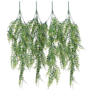 Artiflr Artificial Vines Faux Eucalyptus Garland, 2 Pack Fake Eucalyptus Greenery Garland Wedding Backdrop Arch Wall Decor, 6 Feet/pcs Fake Hanging Plant for Table Festival Party Decorations - zingydecor