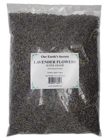 Image of Lavender Flowers - 1 Pound- Super Grade - Our Earth's Secrets