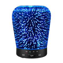 Aromatherapy Oil Diffuser, SZTROKIA 180ml Essential Oil Ultrasonic Cool Mist Humidifier with 3D 24 Color Changing Starburst LED lights - zingydecor
