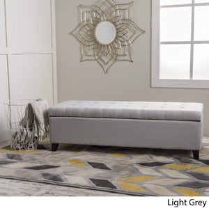 Christopher Knight Home Living Santa Rosa Light Grey Fabric Storage Ottoman