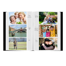 "Pioneer Sewn Bonded Leather BookBound Bi-Directional Photo Album, Holds 300 4x6"" Photos, 3 Per Page, Black."